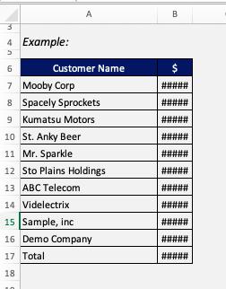 Excel #### error