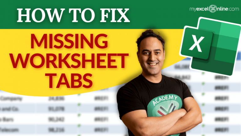 Worksheet Tabs not Visible | MyExcelOnline