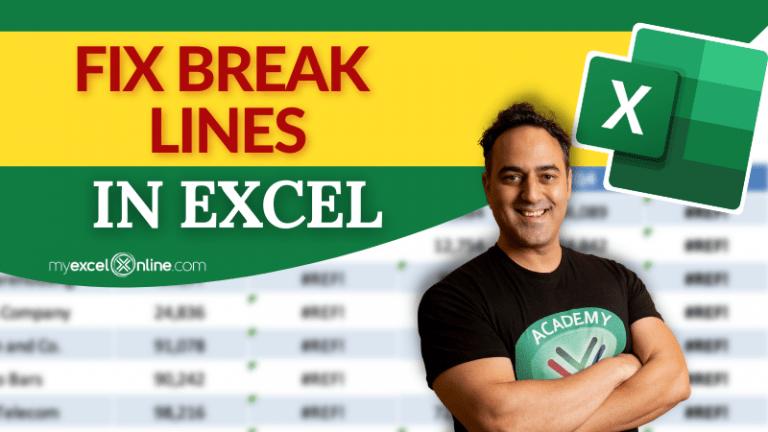 Break Line on Worksheet | MyExcelOnline