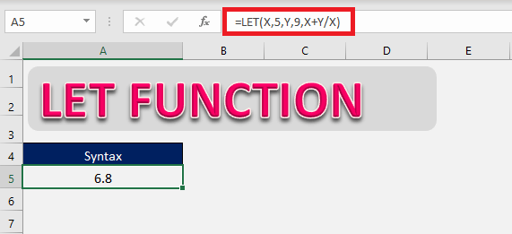 Excel Let function