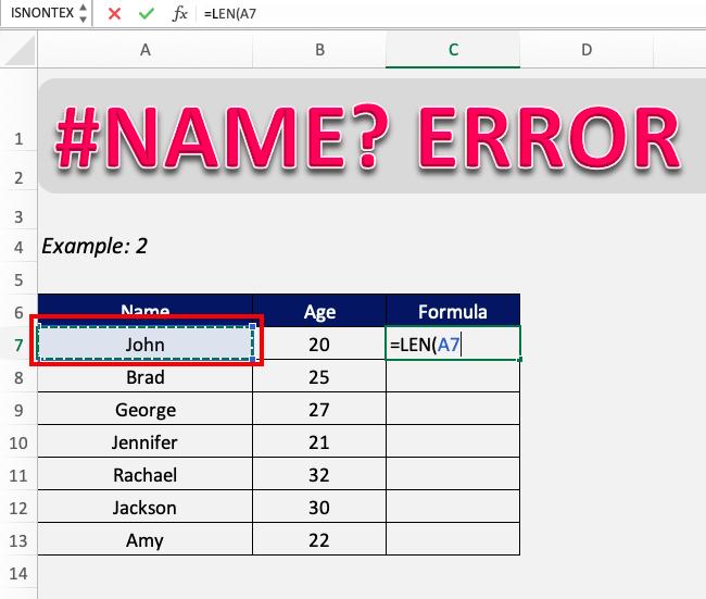 #NAME error in Excel | MyExcelOnline