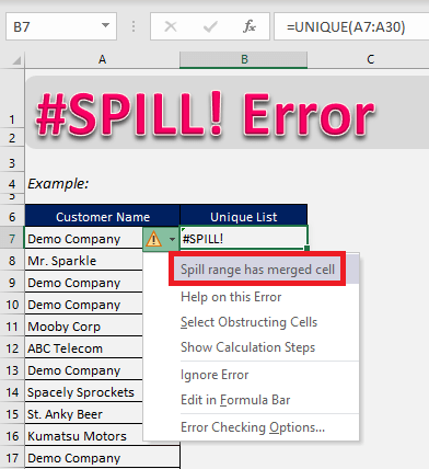 Top 20 Common Excel Problems Solved | MyExcelOnline