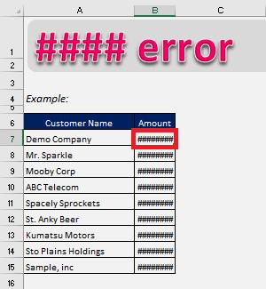 How to correct a ##### error | MyExcelOnline