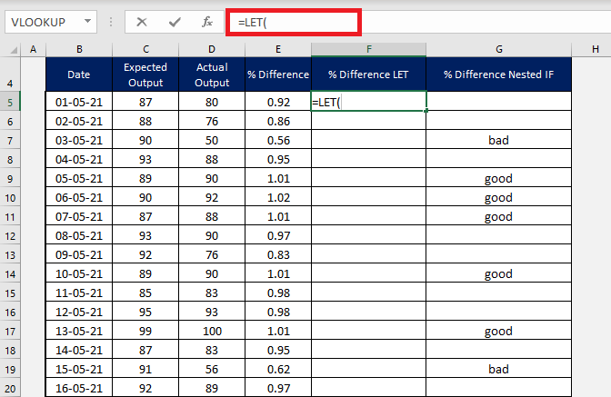 How to use Excel LET function | MyExcelOnline