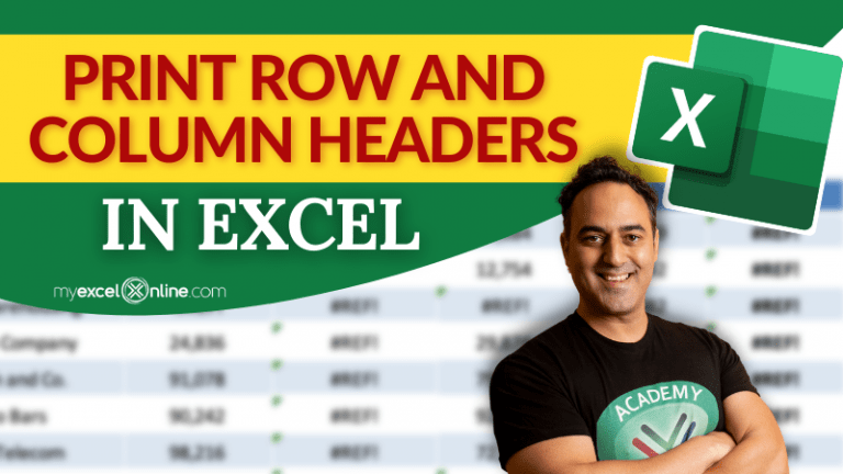 Print Excel header row and column on Every Page | MyExcelOnline