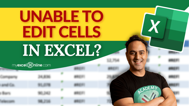 How to edit cells in Excel   MyExcelOnline