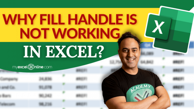 Why Fill Handle Excel not working? | MyExcelOnline