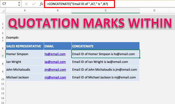 Not using Quotation Marks for Text in Formulas | MyExcelOnline